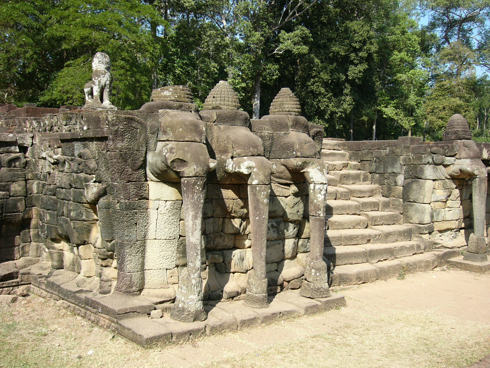 terraces of angkor On terrace of the elephants